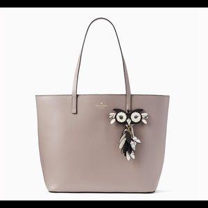 Owl Little Len Leather Tote   NWT